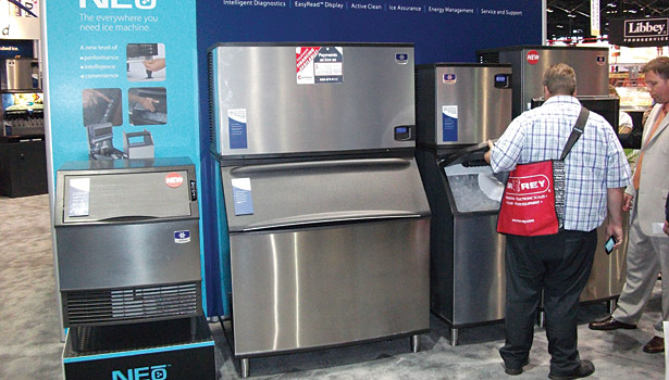 Manitowoc's Indigo line of ice equipment draws attention at the NRA Show.