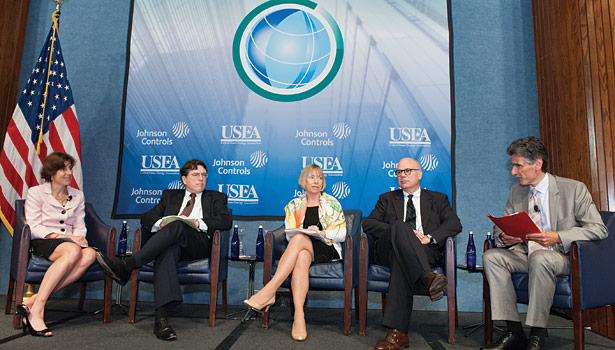 "Panel members discuss ""Energy Efficiency Practices in a New Energy Economy."" (Feature photos by Herman Farrer Photography.)"
