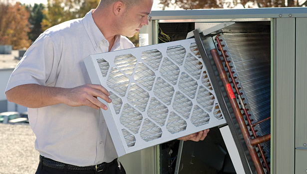 Air filters play a prime role in protecting building occupants and HVAC equipment against pollutants generated within a building as well as pollutants from air drawn into a building from the HVAC system. (Photo courtesy of Kimberly-Clark Filtration.)