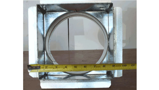 C box with plaster flange