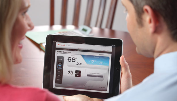 When the simple act of commanding home comfort from an app is realized, the next generation will seek out the means toward a connected home. (Courtesy of Honeywell)