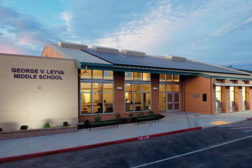 George V. Leyva Middle School administration building