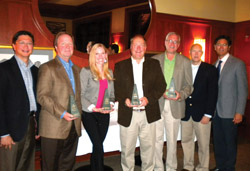 Gustave A. Larson Co. awarded its top supplier sales personnel in 2012 at a recent dinner.