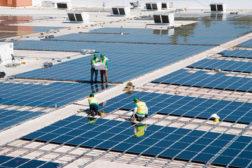 a solar rooftop installation