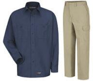 Wrangler Work Shirt and Cargo Pants