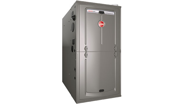 "Rheem Prestigeâ""¢ Series communicating two-stage variable-speed multi-position gas furnace"