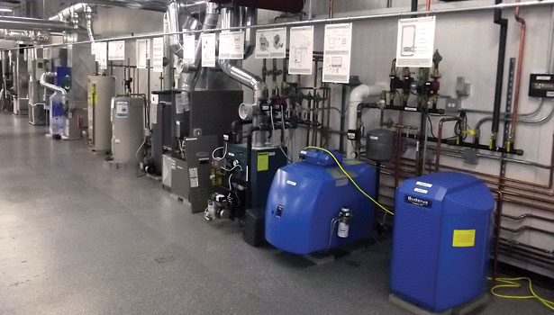 Dr. Energy Saver's training center houses 25 different HVAC systems that can be used to train dealers about various equipment.