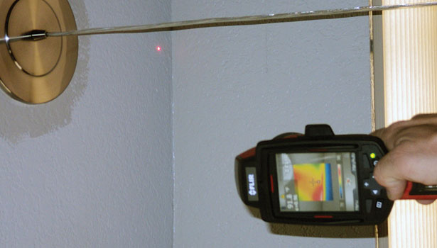 One of the tools contractors learn to use to conduct home performance testing is the infrared camera.