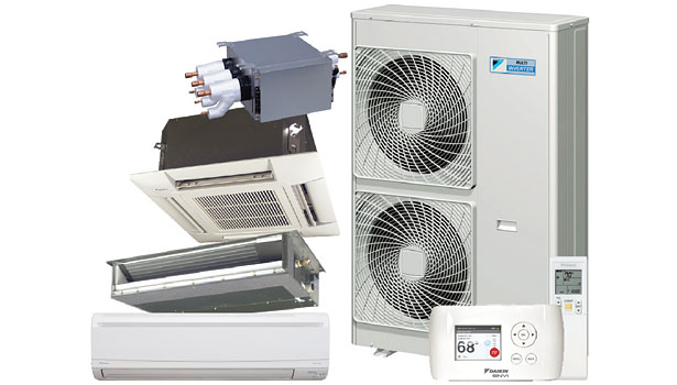 Daikin VRV and Ductless RMXS48LVJU 8-zone multi-split heat pump