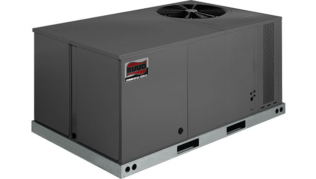 Ruud Light Commercial Ultra Series rooftop units (RKQN-C, RKQN-A)
