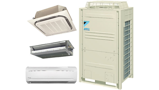 Commercial products feature comfort efficiency 2013 10 14 achrnews daikin vrv and ductless reyq pb ductless split system heat recovery unit fandeluxe Choice Image