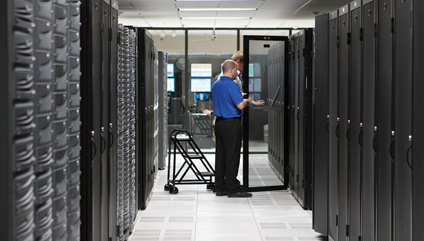 Norton Healthcare, Louisville, Ky., recently overhauled its data center to establish a power, cooling, and monitoring infrastructure capable  of supporting virtualized servers and electronic medical records. (Photo courtesy of Emerson Network Power.)