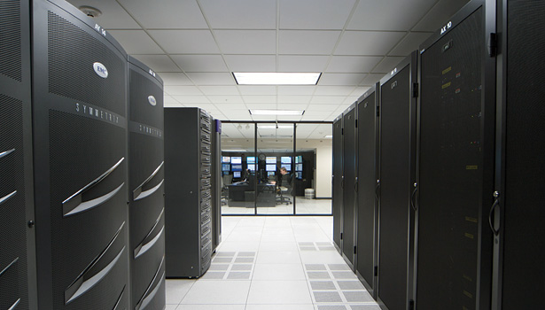 Thanks to its recent retrofit, Norton Healthcare now has a scalable and redundant data center infrastructure that has already allowed for the addition of several hundred new servers. (Photo courtesy of Emerson Network Power.)