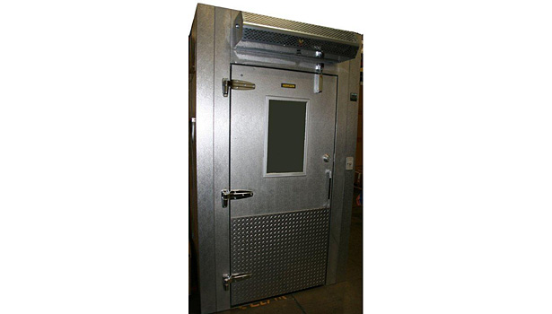 Mars LoPro air curtain above walk-in cooler door