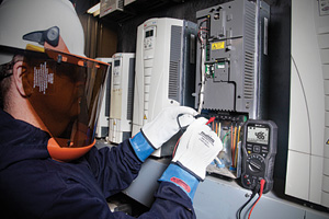 Variable-frequency drives (VFDs) have helped to reduce the number of motor failures that are the result of overheating and voltage irregularities. (Photo courtesy of Flir Systems Inc.)