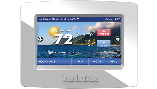 Venstar's ColorTouch thermostats provide on-demand environmental data to the homeowner. The units automatically send error notifications to the account owner and, if enabled, the homeowner's HVAC contractor.