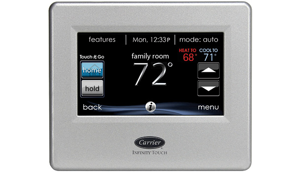 Carrier Infinity Touch Control, chosen by Rob Minnick, CEO/president, Minnick's Heating and Cooling, Laurel, Md.