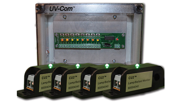 UV Resources' UV-Com automates the process of checking to be sure lamps are operational. If either a lamp and/or ballast ceases to function, the facility engineer is alerted.