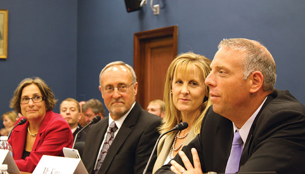Karen Madonia testified before a congressional subcommittee regarding the repeal of the estate tax.