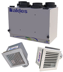 American Aldes Ventilation Corp. Zoned IAQ with Heat and Energy Recovery Kits