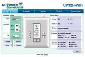Network Thermostat: Humidity-Sensing Thermostats