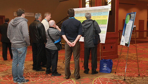 ASHRAE attendees peruse the offerings in the technical program, which will feature over 200 sessions this year.