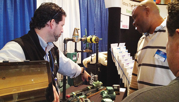 Expo attendees got a hands-on look at multiple products for the HVACR industry.