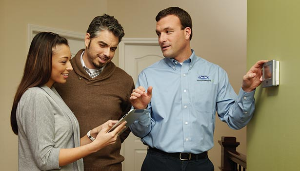 Carrier representatives recommend that contractors be prepared to educate their sales team on the standards so that personnel will then have talking points to discuss with homeowners. (Photo courtesy of Carrier.)