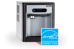 Follettâ??s 7 Series ice-only dispensers with an integral air-cooled ice machine producing up to 125 pounds per day of Chewblet® ice are now Energy Star-qualified.