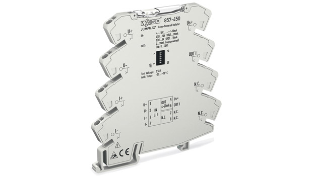 Wago Corp. featured its Jumpflex�® line of signal conditioners and relays, which include a loop-powered signal conditioner offering conversion, isolation, and transmission of a variety of signal types.