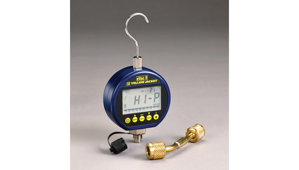 Ritchie Engineering Co. Inc.â??s Yellow Jacket Products Division introduced its eVac II programmable digital vacuum gauge. The compact gauge accurately measures vacuum pressure with resolution down to 0.1 micron.