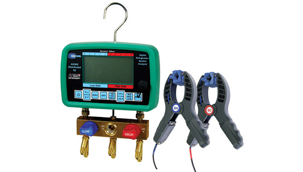 Universal Enterprises Inc. displayed the AC900SC digital refrigerant system analyzer, which features patented pressure bar graphs that allow users to see pressure dynamics intuitively for quick diagnosis.