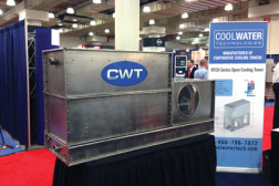 Cool Water Technologies showcased the RTCH Series of evaporative cooling towers, available in sizes from 12-180 nominal tons, 36-540 gallons per minute (gpm).