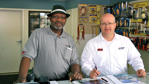 Distribution is a consumer-driven business, and Comfort Supply employees Alphonso Allen (left) and David Sosna (right) are there to provide excellent customer service.