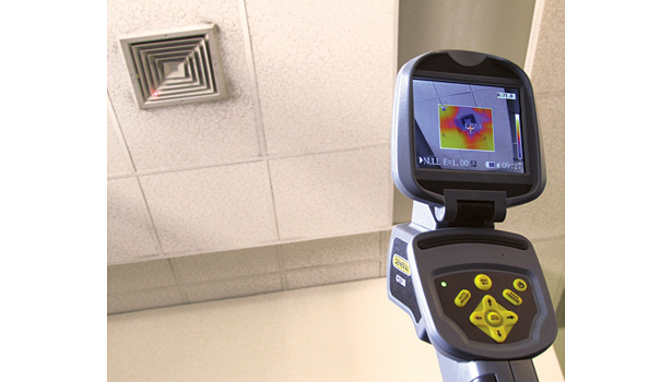 Thermal imaging cameras, such as the PREDATOR Thermal Imaging Camera with Picture-in-Picture, Streaming Video & Voice Annotation, can be used to take the temperature of various locations around a facility.