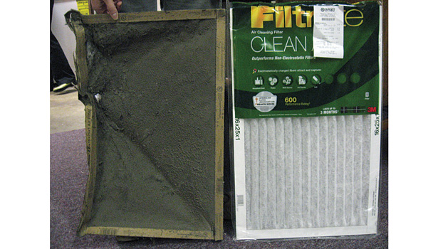 One way contractors can begin a conversation on IAQ is by showing homeowners their old air filter.