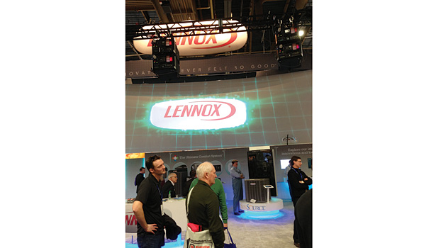 Lennox showed a variety of home control products and a Lennox�® Ductless Mini-Split air conditioner and heat pump line.