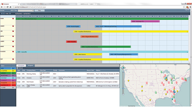 Visual schedulers allow technicians to make quick and intelligent decisions any place, any time.