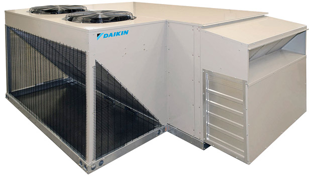 Daikin Appliedâ??s Energy Recovery Wheel option for Rebel recovers approximately 75 percent of energy from the exhaust air stream and exceeds ASHRAE Standard 90.1 requirements for energy recovery.