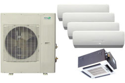 Heat Controller's InverterFlex multi-zone units condition up to five rooms, depending on the model, with one outdoor unit.