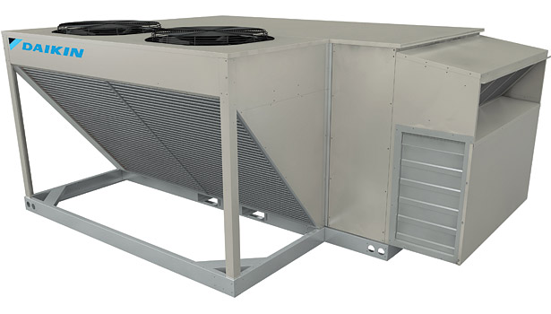 Daikin Applied Rebel package rooftop cooling and heat pump with energy recovery wheel