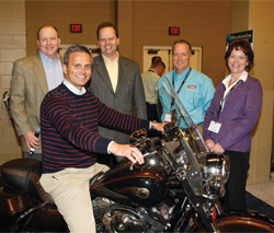 M. Todd Cramer, president, Johnstone Supply â?? Knoxville, was the winner of a Harley-Davidson 110th Anniversary Road King Motorcycle