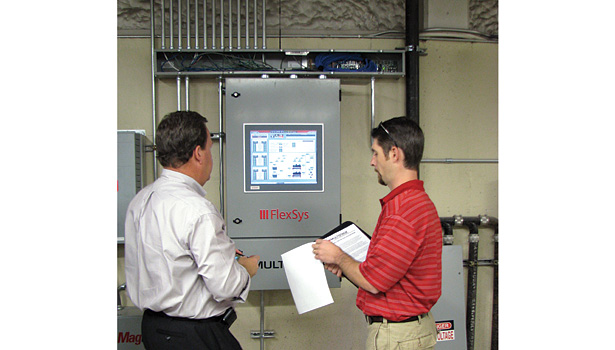 Central plant controllers take control of the chiller plant from the building automation system for more efficient and focused control. (Photo courtesy of Multistack.)
