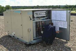 In response to DOEâ??s Rooftop Unit Challenge initiative, Daikin designed the Rebel rooftop heat pump, which achieves part-load efficiencies of up to 19.2 IEER.