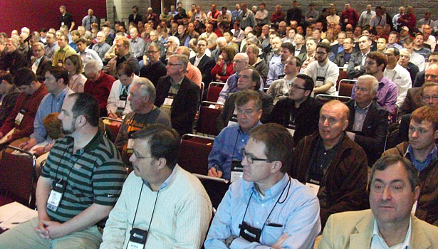 The technical talks drew large crowds throughout the IIAR Conference.