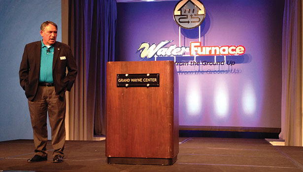 Tom Huntington, president and CEO of WaterFurnace, talks about the company's goals during its annual meeting.