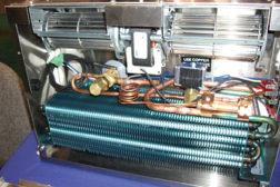 Coils that can be isolated and replaced in retrofit applications are drawing attention in the industry. (Photo taken by The NEWS at the Turbo Coil booth during the NRA expo in May.)