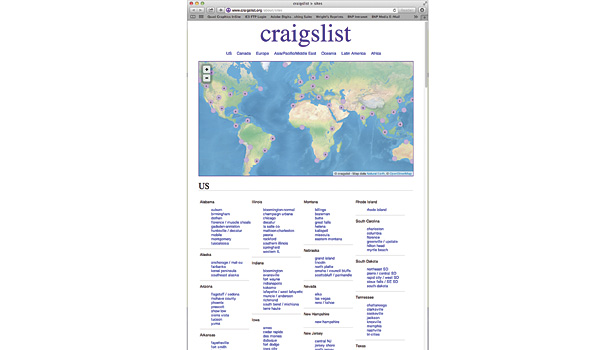 Craigslist has more than 50 billion page views per month worldwide. The system has been described by some as the replacement for the bulletin board and the Yellow Pages.