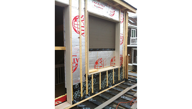 The goal of a deep energy retrofit is to get a connection from the walls through to the foundation, so there is no interruption in insulation.