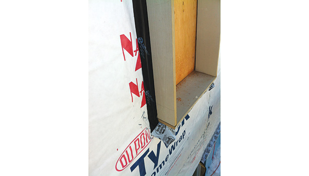In a deep energy retrofit, window jambs are often extended in order to accommodate thick exterior insulation.